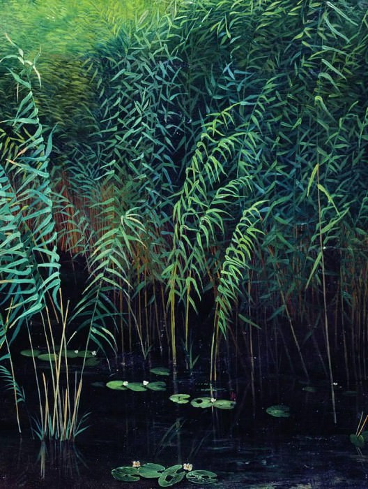 Reeds and water lilies. 1889. Isaac Ilyich Levitan