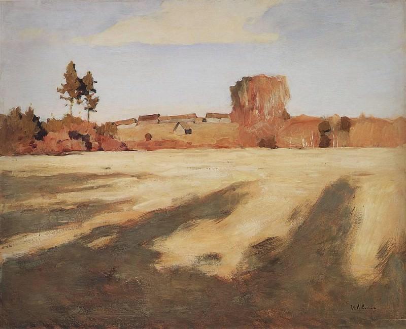 Compressed field. 1897. Isaac Ilyich Levitan