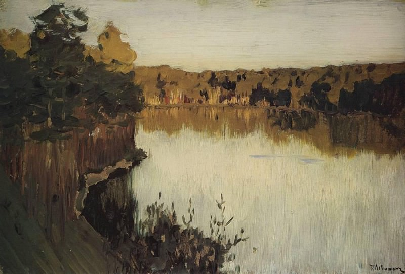Forest Lake. Sunset. 1890. Isaac Ilyich Levitan