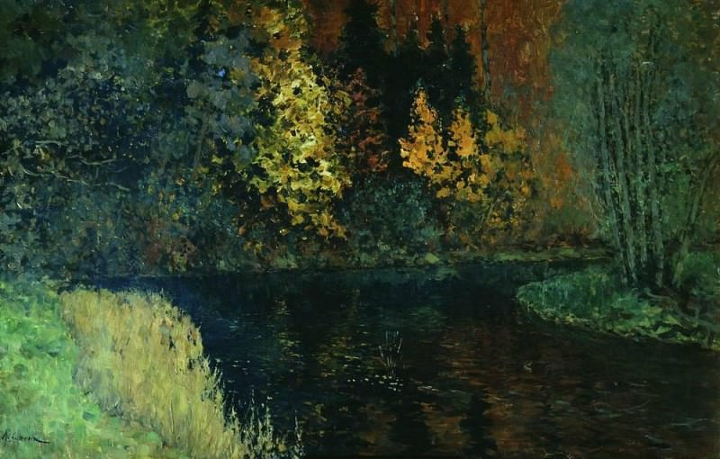 Forest River. Autumn on the River Istra. 1885-1886. Isaac Ilyich Levitan