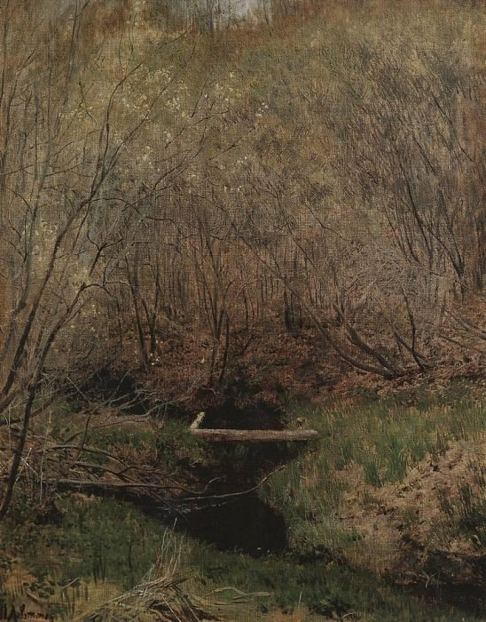 Spring in the woods. 1882. Isaac Ilyich Levitan