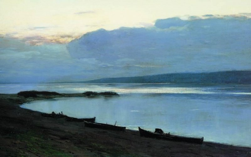 evening on the Volga 2. 1888. Isaac Ilyich Levitan