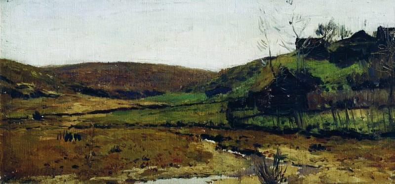 Village. Hotkovo. 1890. Isaac Ilyich Levitan