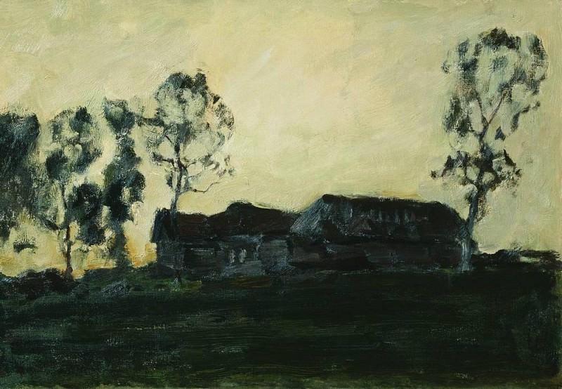 huts 2. 1899. Isaac Ilyich Levitan