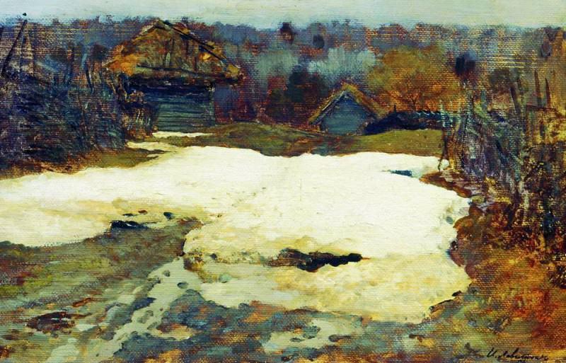 Last snow. Savvinskaya settlement. 1884. Isaac Ilyich Levitan