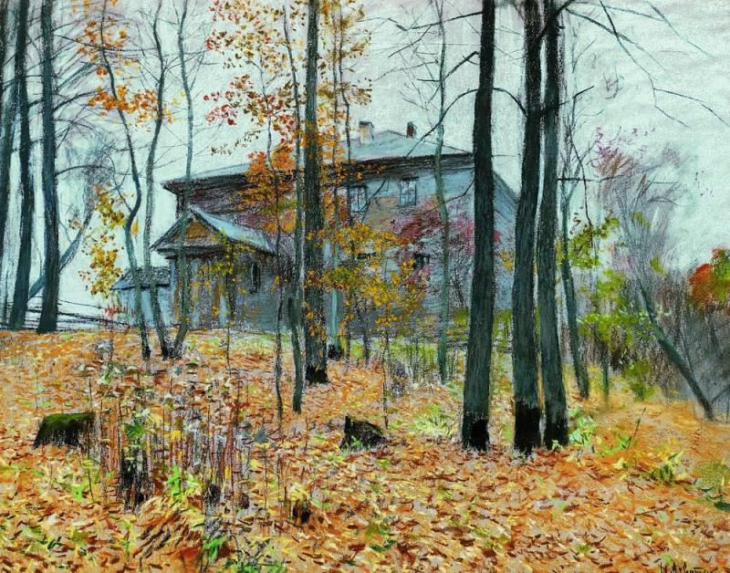 Autumn. Farmstead. 1894. Isaac Ilyich Levitan