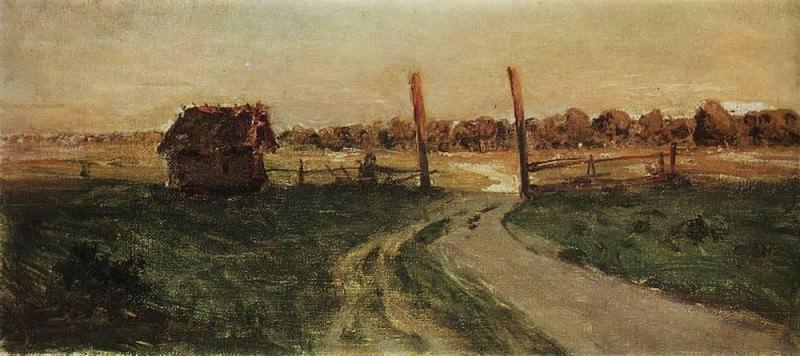 Landscape with hut. 1899. Isaac Ilyich Levitan