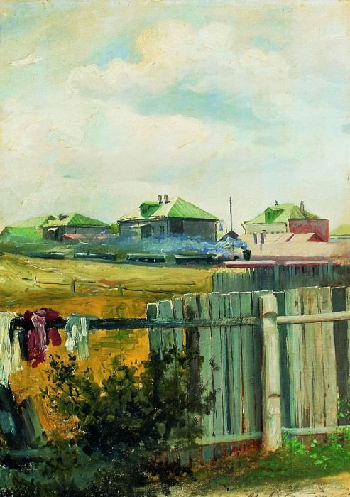 Landscape with fence. Isaac Ilyich Levitan