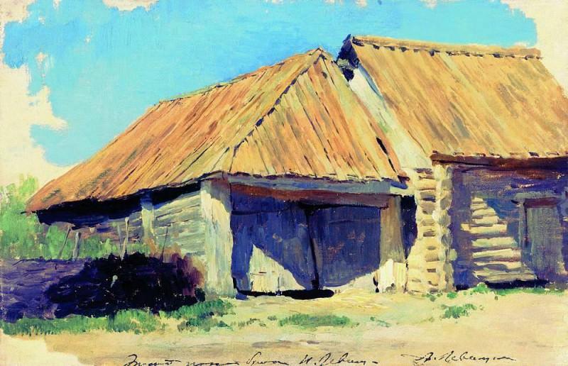 Конюшня (Сарай). 1880-е. Исаак Ильич Левитан