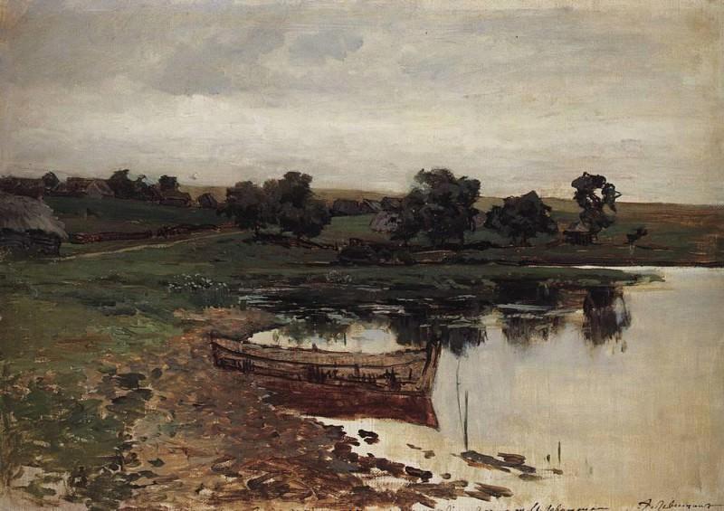 V river. 1880. Isaac Ilyich Levitan