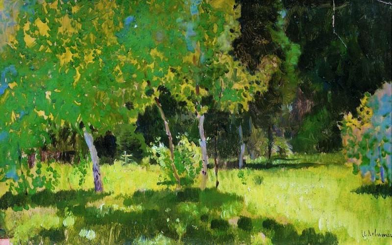 Garden. Isaac Ilyich Levitan