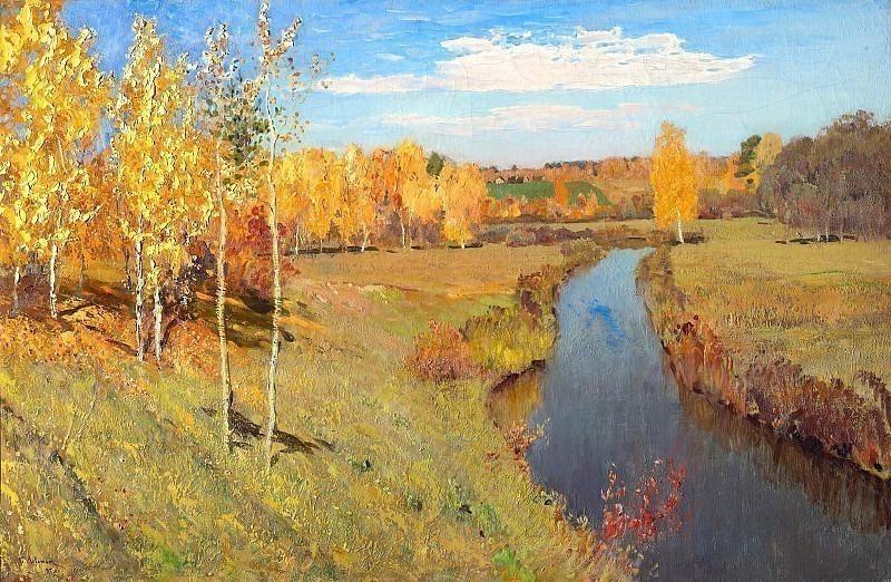 Golden autumn. Isaac Ilyich Levitan