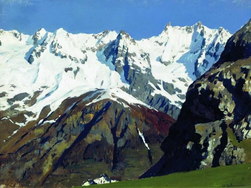 chain of mountains. Blanc. 1897. Isaac Ilyich Levitan