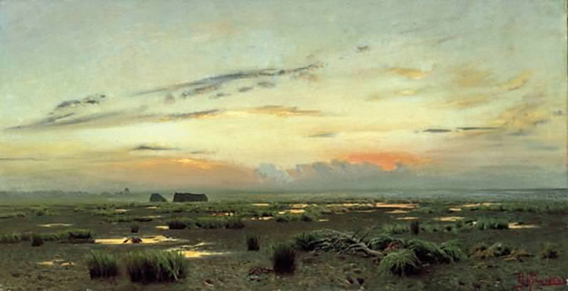 evening over the marsh. 1882. Isaac Ilyich Levitan