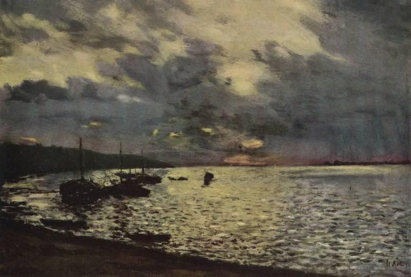 Cloudy day on the Volga. 1888. Isaac Ilyich Levitan