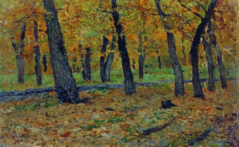 oak grove. Autumn. 1880. Isaac Ilyich Levitan