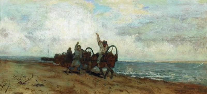 Haulers. Isaac Ilyich Levitan