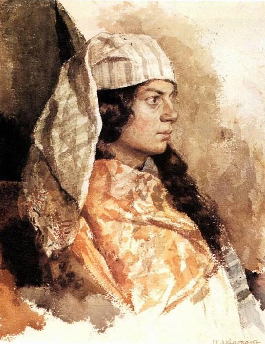 Jewish woman in the eastern veil. 1884. Isaac Ilyich Levitan