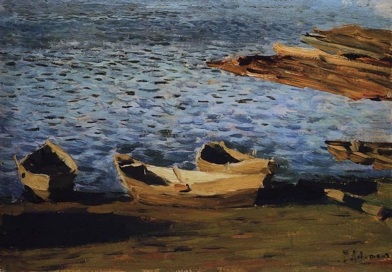 shore. The first half of 1890. Isaac Ilyich Levitan