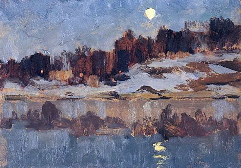 Landscape with the moon. 1890. Isaac Ilyich Levitan