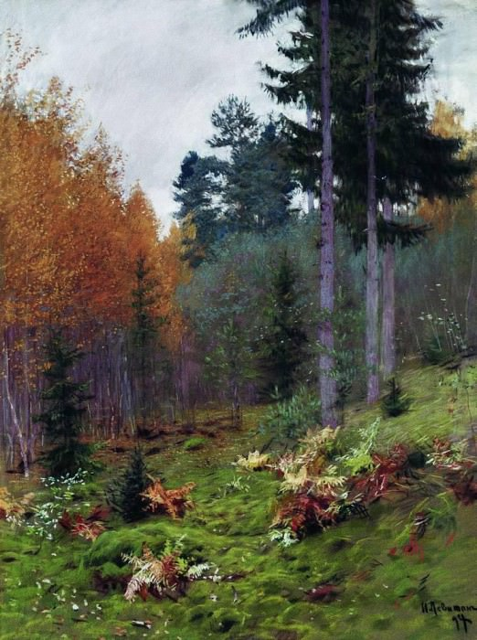 In the woods in autumn. 1894. Isaac Ilyich Levitan