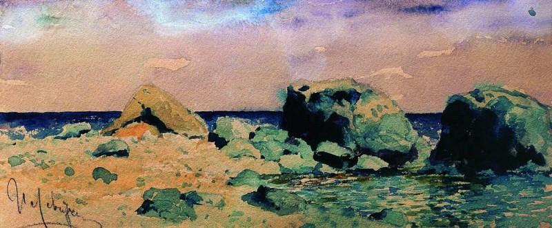 Берег моря и вид на море. Исаак Ильич Левитан