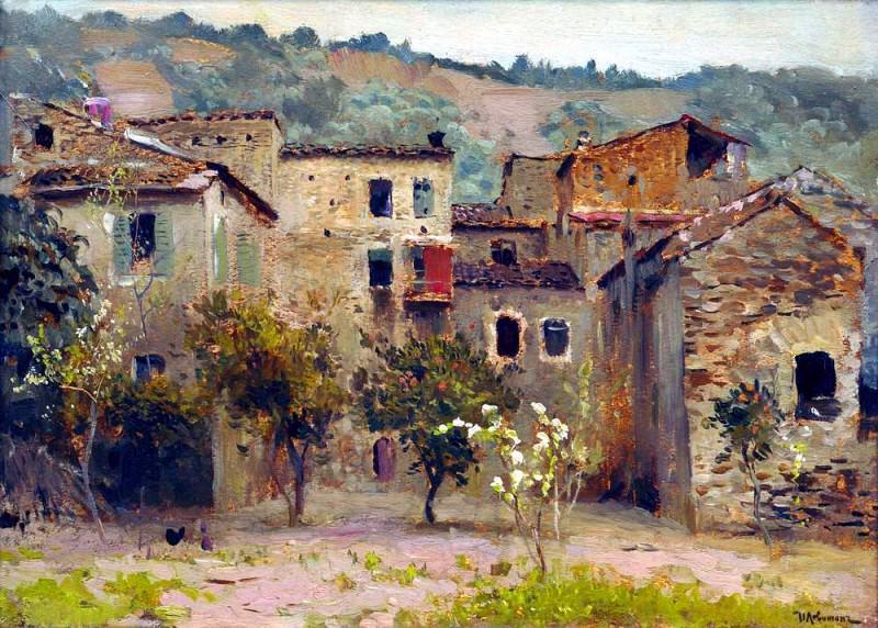 Near Bordighera. In the north of Italy. Isaac Ilyich Levitan