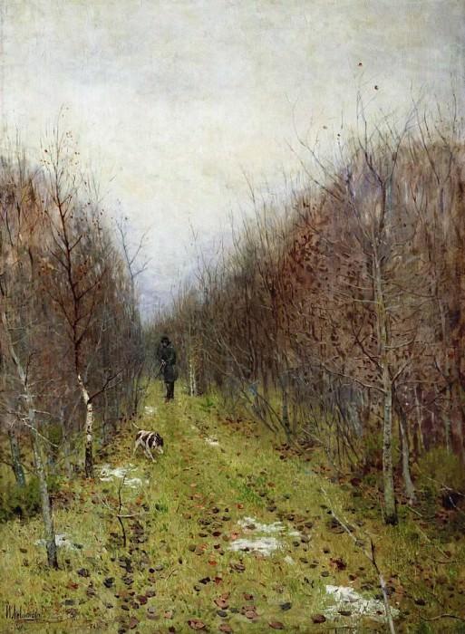 Autumn. Hunter. 1880. Isaac Ilyich Levitan
