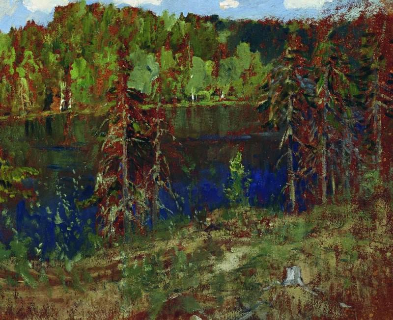 Lake in the woods. Isaac Ilyich Levitan