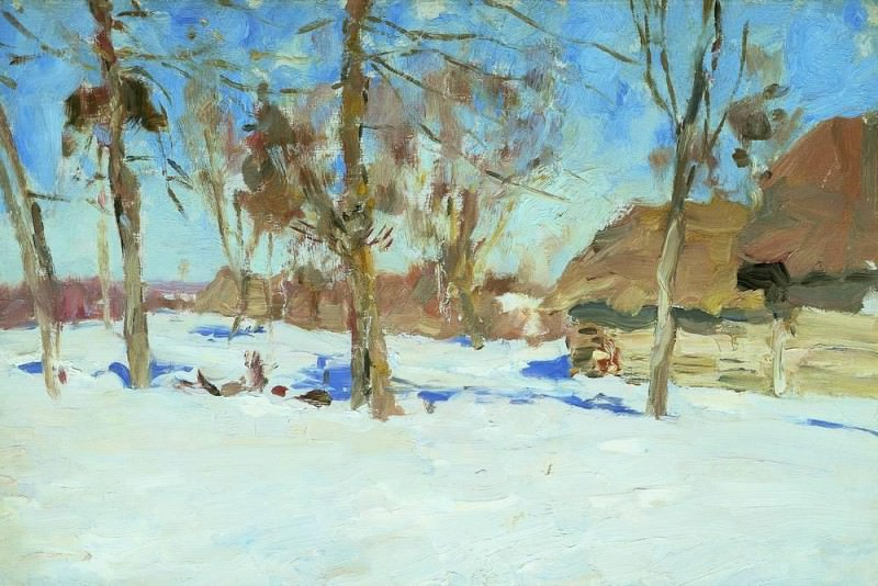 In the beginning of March. 1900. Isaac Ilyich Levitan