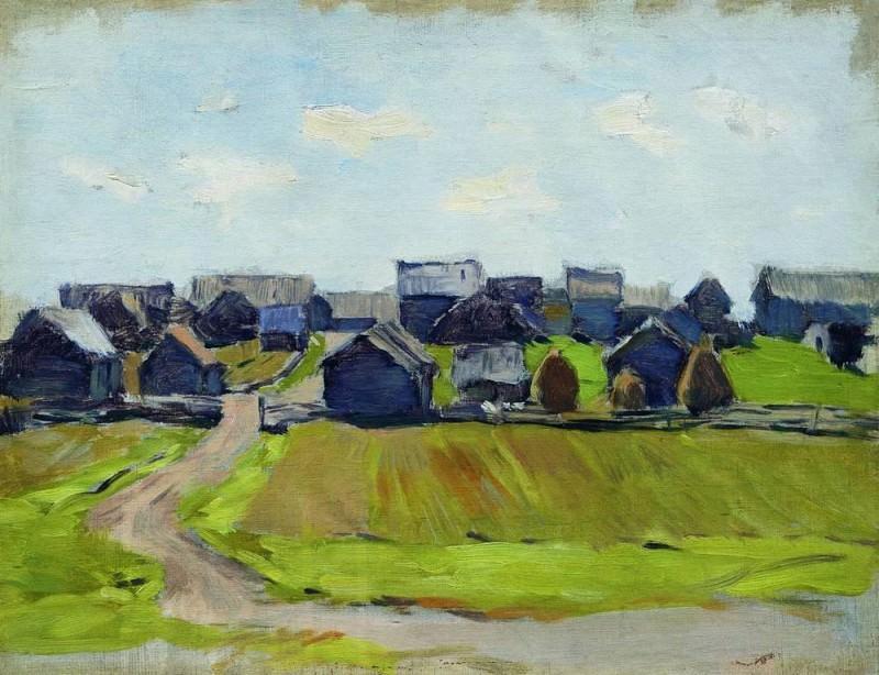 Village. Isaac Ilyich Levitan