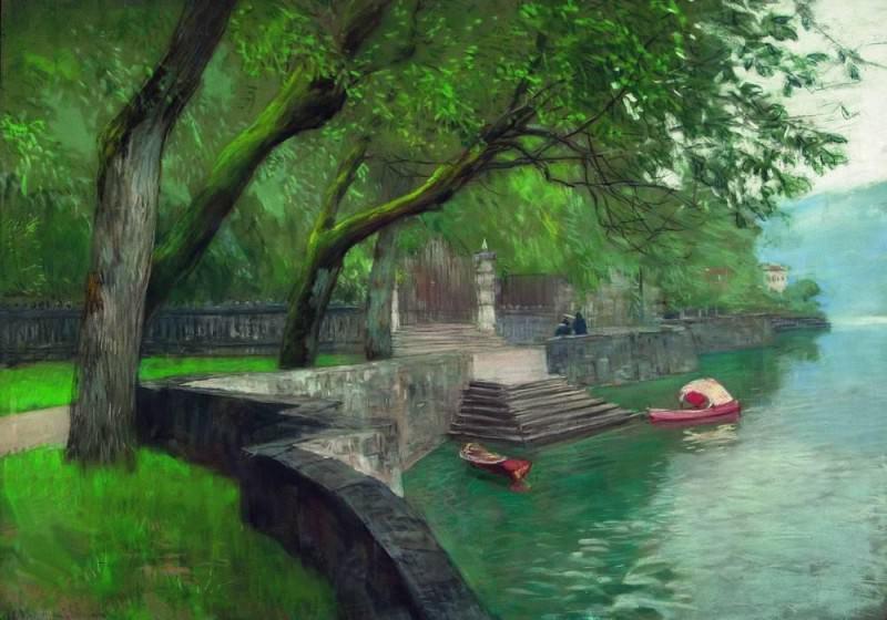 Lake Como. Quay. 1894. Isaac Ilyich Levitan