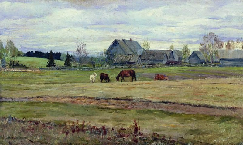 Overcast day. 1890. Isaac Ilyich Levitan