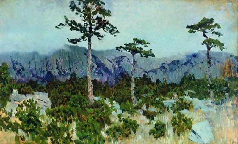 Three pine. 1886. Isaac Ilyich Levitan