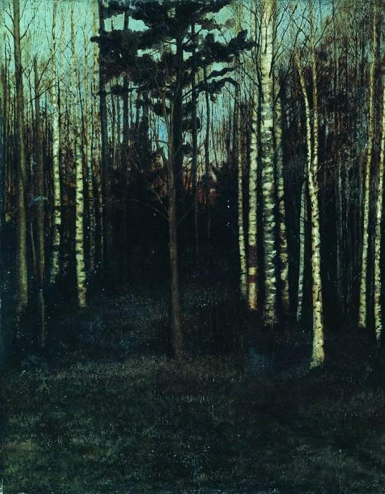 By evening. Grove. Isaac Ilyich Levitan