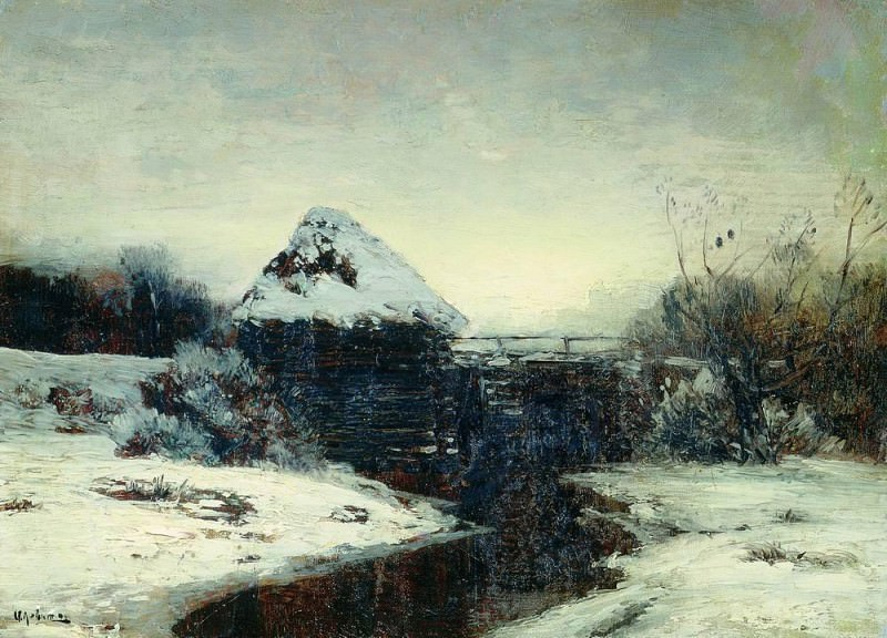 Winter landscape with mill. 1884. Isaac Ilyich Levitan