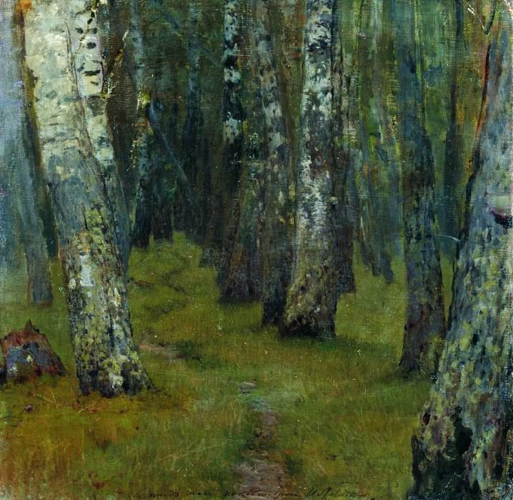 Birches. Edge of the Forest. 1880. Isaac Ilyich Levitan