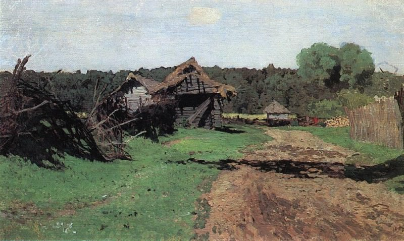 Entrance to the village. 1884. Isaac Ilyich Levitan
