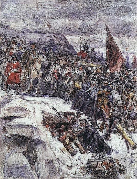 Переход Суворова через Альпы. 1898. Василий Иванович Суриков