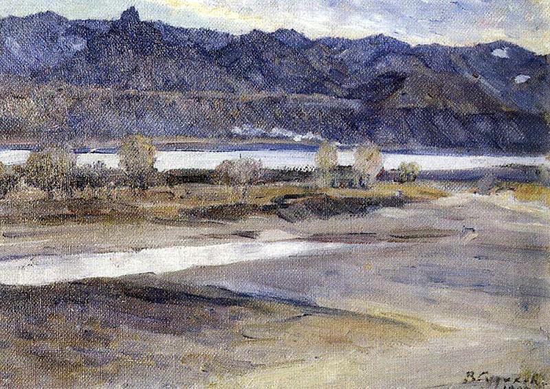 Mountains near Krasnoyarsk. 1909. Vasily Ivanovich Surikov