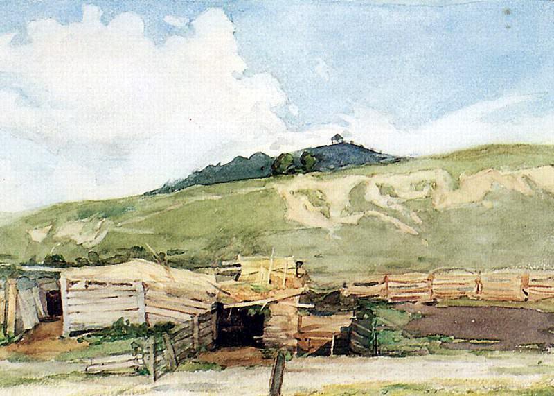 Siberian landscape. Torgoshino. 1873. Vasily Ivanovich Surikov
