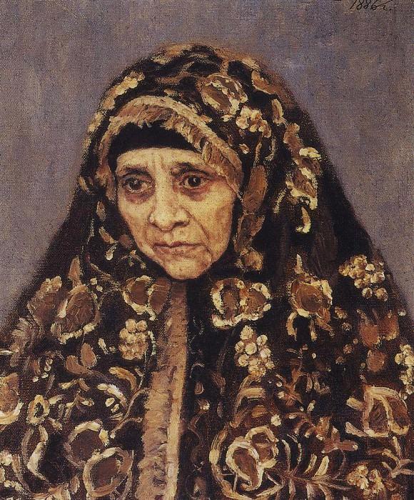 Старуха в узорчатом платке. 1886. Василий Иванович Суриков