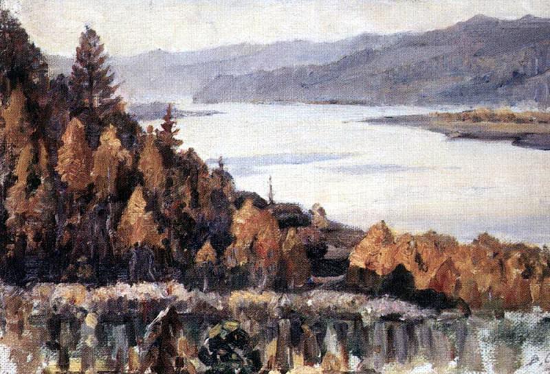Yenisei in Krasnoyarsk. 1909. Vasily Ivanovich Surikov