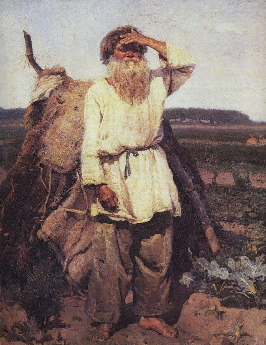 Старик-огородник. 1882. Василий Иванович Суриков