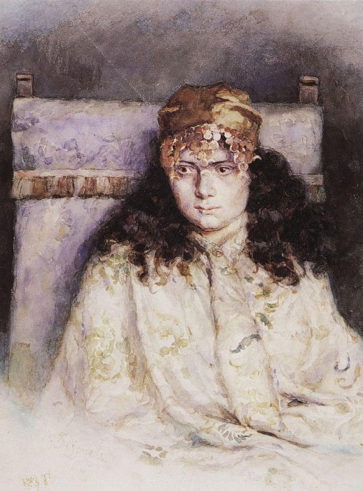 Portrait of a Woman. 1885. Vasily Ivanovich Surikov