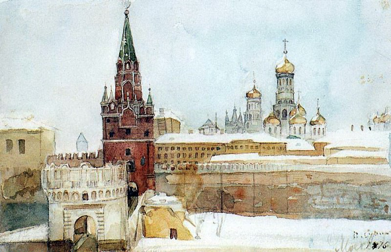 View on the Kremlin in the winter. 1876. Vasily Ivanovich Surikov