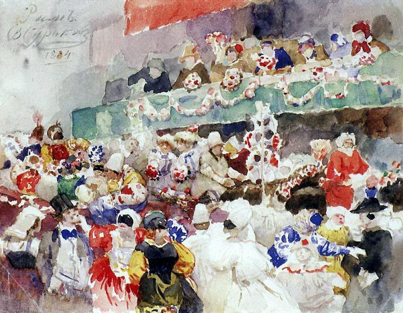 Римский карнавал. 1884. Василий Иванович Суриков