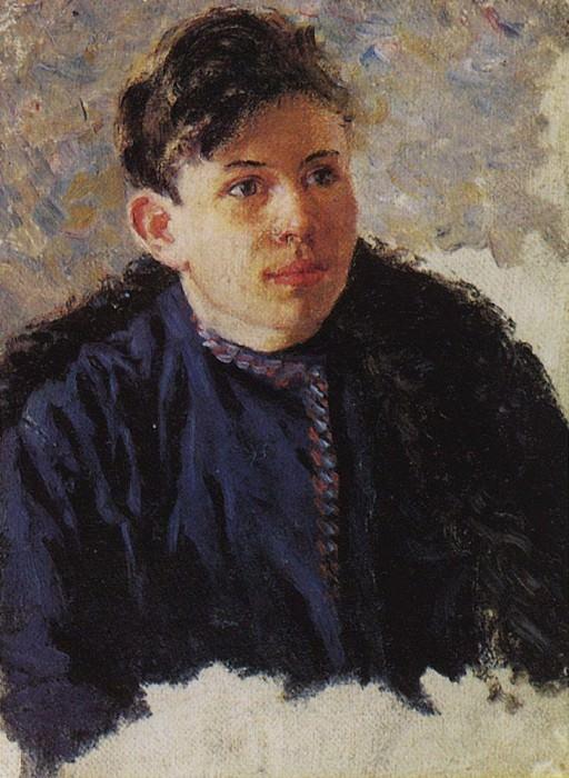 Portrait of a young man, Leonid Chernyshov. 1889-1890. Vasily Ivanovich Surikov