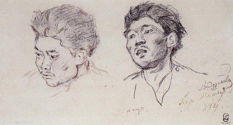 silk. 1894. Vasily Ivanovich Surikov