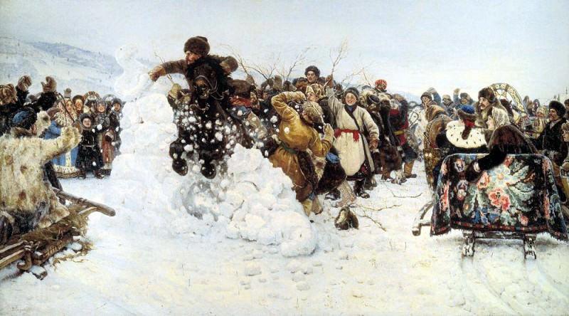 Взятие снежного городка. 1891. Василий Иванович Суриков
